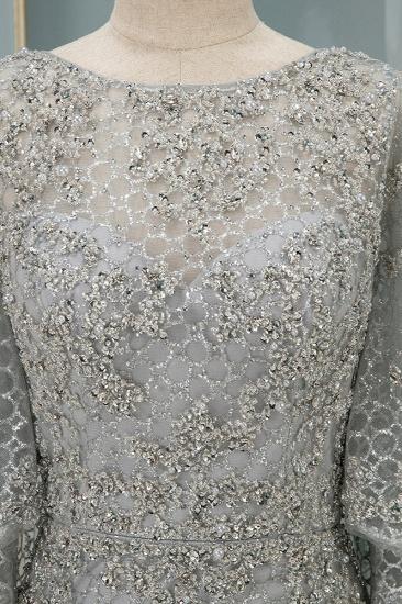 Elegant Jewel Long Sleeves Mermaid Prom Dresses with Appliques Beadings_6