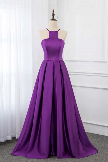 BMbridal Chic Satin Spaghetti Straps Sleeveless Long Prom Dresses with Ruffle Online_1
