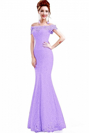 Off-the-Shoulder Lace Mermaid Prom Dress Long Evening Party Gowns Online_18
