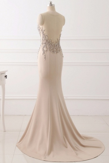 Elegant Jewel Sleeveless Mermaid Prom Dresses with Pearls Online_5