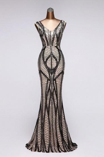 BMbridal Elegant V-Neck Sleeveless Long Mermaid Prom Dresses Online_4