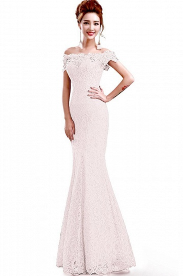 Off-the-Shoulder Lace Mermaid Prom Dress Long Evening Party Gowns Online_19