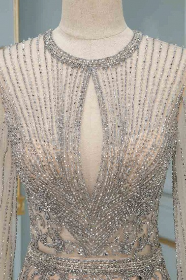 BMbridal Luxury Jewel Long Sleeves Long Prom Dresses with Beadings Online_5