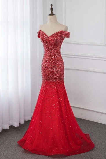Sparkly Off-the-Shoulder Sweetheart Mermaid Prom Dresses with Sequins_4