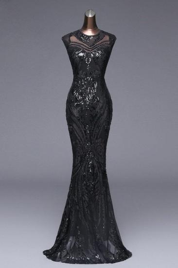 BMbridal Elegant Sequined Jewel Sleeveless Mermaid Prom Dresses with Beadings_4