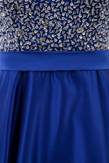 Gorgeous Satin Halter Ruffle Backless Prom Dresses with Beadings Top_6