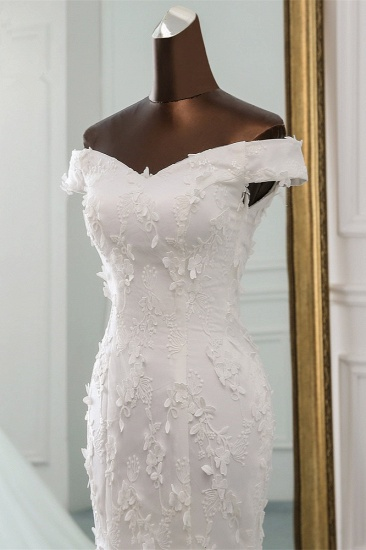 BMbridal Gorgeous Tulle Sweetheart Long Mermaid Wedding Dresses with Lace Online_5