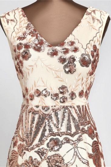 Glamorous Sequined Sleeveless Long Mermaid Prom Dresses Online_6