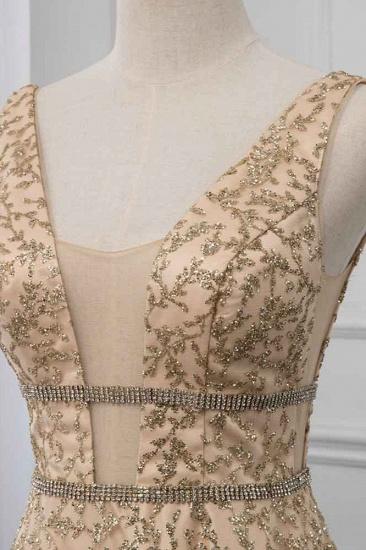 BMbridal Glamorous V-Neck Sleeveless Appliques Prom Dresses with Beadings Online_6
