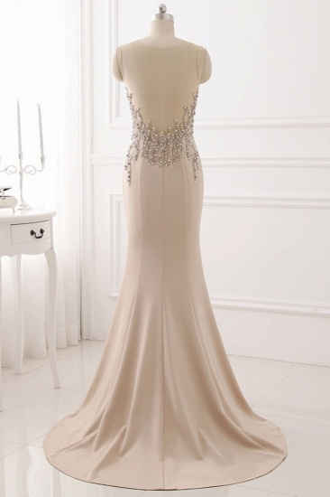 Elegant Jewel Sleeveless Mermaid Prom Dresses with Pearls Online_3