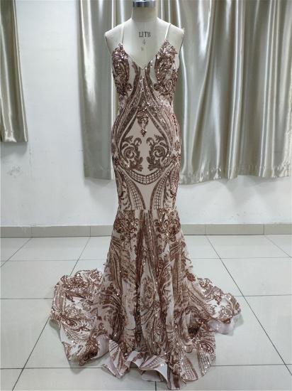 BMbridal Glamorous V Neck Sleevless Affordable Prom Dresses With Appliques Spaghetti Straps_1
