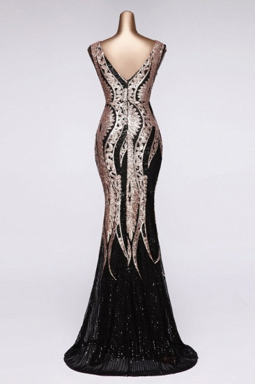 Gorgeous Sequined Square-Neck Mermaid Prom Dresses Sleeveless Online_5