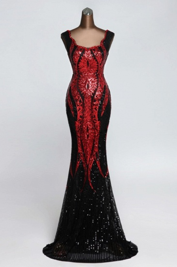 Gorgeous Sequined Square-Neck Mermaid Prom Dresses Sleeveless Online_1