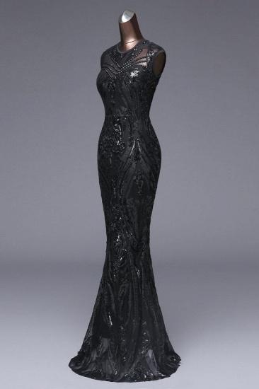 BMbridal Elegant Sequined Jewel Sleeveless Mermaid Prom Dresses with Beadings_16