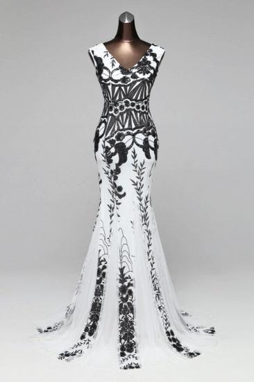 Glamorous Sequined Sleeveless Long Mermaid Prom Dresses Online_2