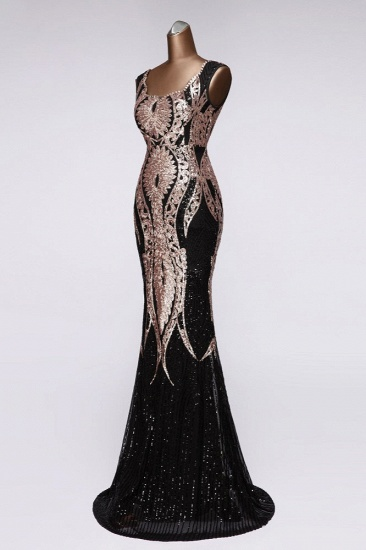 Gorgeous Sequined Square-Neck Mermaid Prom Dresses Sleeveless Online_7