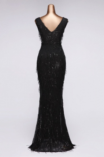 BMbridal Stylish V-Neck Sequined Mermaid Prom Dresses with Strings Online_11