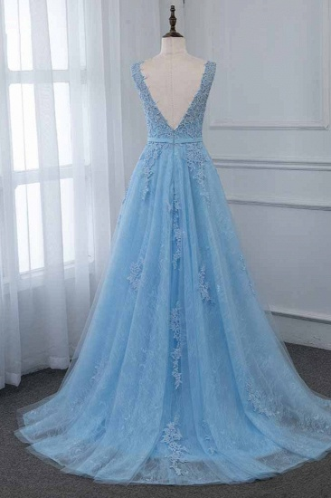 Affordable Jewel Sleeveless A-line Prom Dresses with Lace Online_3