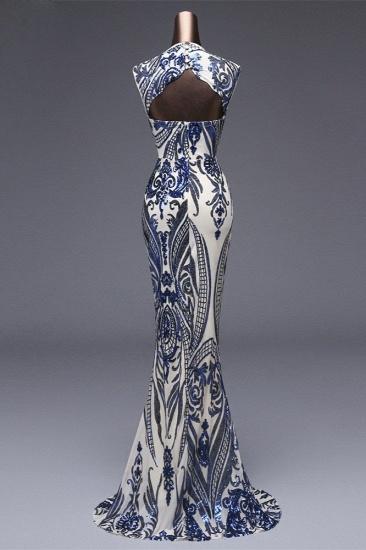 BMbridal Elegant Sequined Jewel Sleeveless Mermaid Prom Dresses with Beadings_12