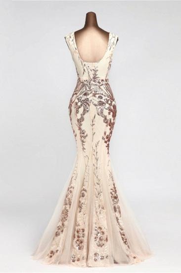 Glamorous Sequined Sleeveless Long Mermaid Prom Dresses Online_4