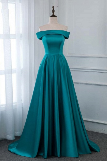 Affordable Off-the-Shoulder Sleeveless Prom Dresses with Ruffles_2