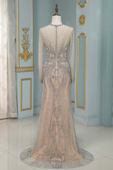 BMbridal Luxury Jewel Long Sleeves Long Prom Dresses with Beadings Online_3