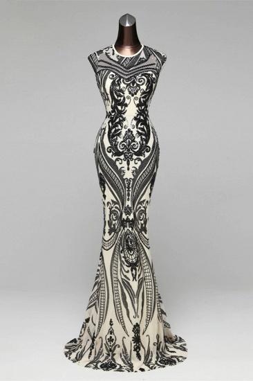 BMbridal Elegant Sequined Jewel Sleeveless Mermaid Prom Dresses with Beadings_3