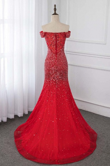 Sparkly Off-the-Shoulder Sweetheart Mermaid Prom Dresses with Sequins_3