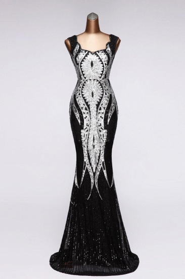 Gorgeous Sequined Square-Neck Mermaid Prom Dresses Sleeveless Online_3