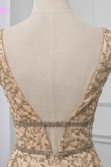 BMbridal Glamorous V-Neck Sleeveless Appliques Prom Dresses with Beadings Online_7