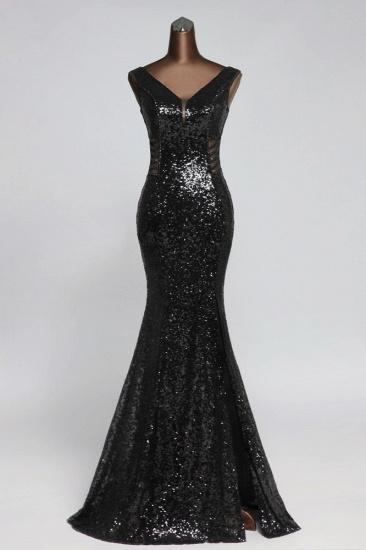 BMbridal Affordable V-Neck Pink Mermaid Prom Dresses with Front-Slit Online_2