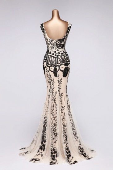 BMbridal Luxury V-Neck Sequins Mermaid Prom Dresses with Open Back Online_3
