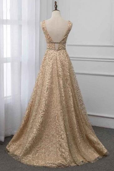 BMbridal Glamorous V-Neck Sleeveless Appliques Prom Dresses with Beadings Online_3