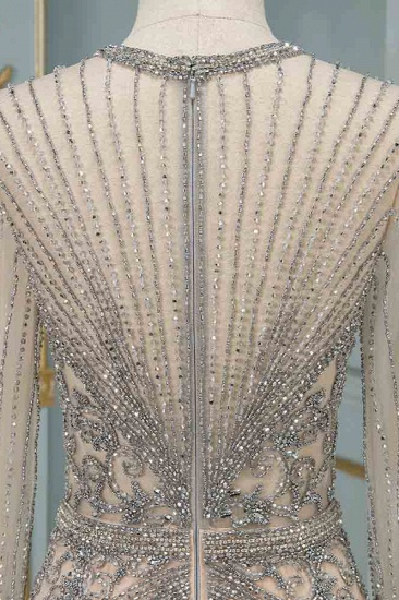 BMbridal Luxury Jewel Long Sleeves Long Prom Dresses with Beadings Online_7