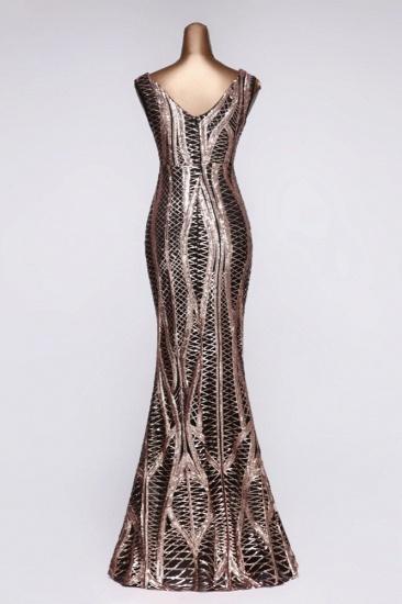 BMbridal Elegant V-Neck Sleeveless Long Mermaid Prom Dresses Online_9
