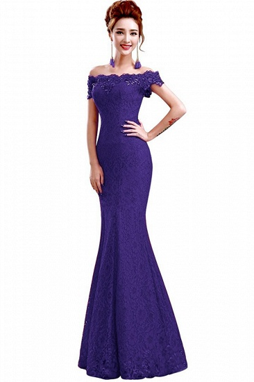 Off-the-Shoulder Lace Mermaid Prom Dress Long Evening Party Gowns Online_16