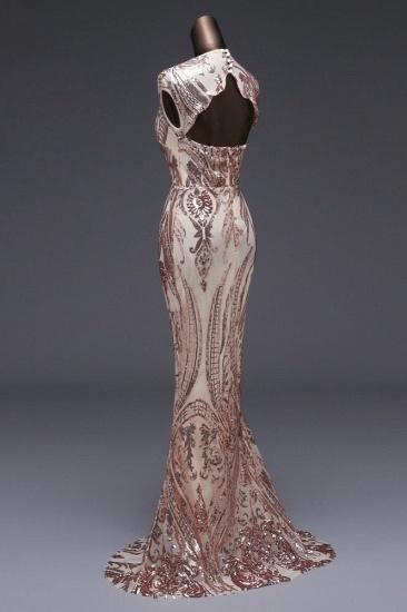 BMbridal Elegant Sequined Jewel Sleeveless Mermaid Prom Dresses with Beadings_8