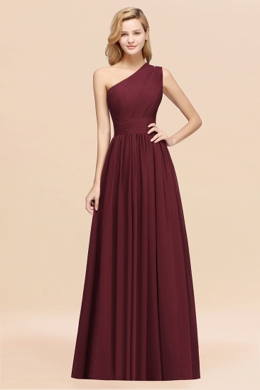Stylish One-shoulder Sleeveless Long Junior Bridesmaid Dresses Affordable_10