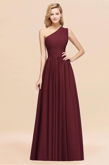 Stylish One-shoulder Sleeveless Long Junior Bridesmaid Dresses Cheap_10