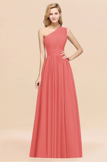 BMbridal Stylish One-shoulder Sleeveless Long Junior Bridesmaid Dresses Affordable_7