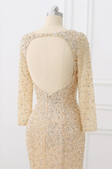 BMbridal Sparkly Sequined Jewel Mermaid Prom Dresses with Long Sleeves Online_6
