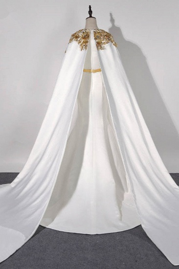 Elegant Satin Jewel Appliques Long Prom Dresses with Sash Online_3