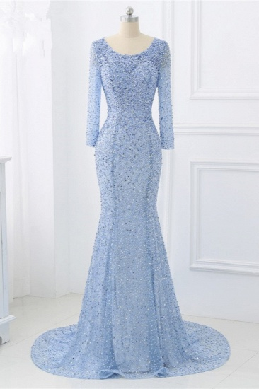 BMbridal Sparkly Sequined Jewel Mermaid Prom Dresses with Long Sleeves Online_1