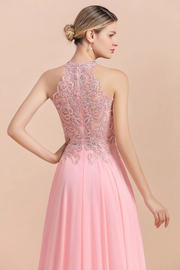 BMbridal A-line Chiffon Lace Ruffles Bridesmaid Dress with Beadings_9