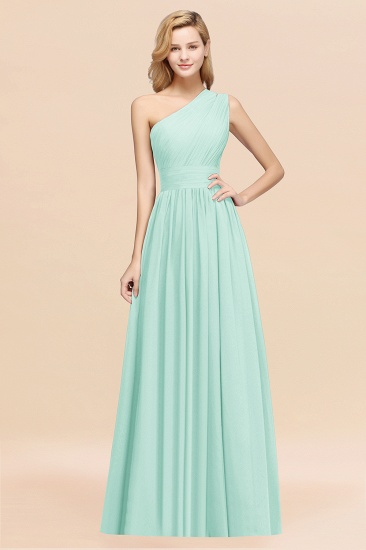 BMbridal Stylish One-shoulder Sleeveless Long Junior Bridesmaid Dresses Affordable_36