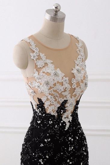 Luxury Tulle Jewel Appliques Mermaid Prom Dresses with Rhinestone Online_7