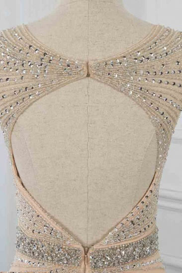 BMbridal Luxury V-Neck Beadings Mermaid Prom Dresses with Crystals On Sale_6