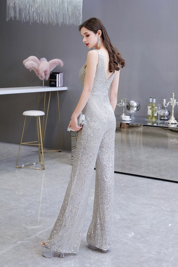 Stunning Sequins V-Neck Sleeveless Jumpsuit Event Party Gowns On Sale_4