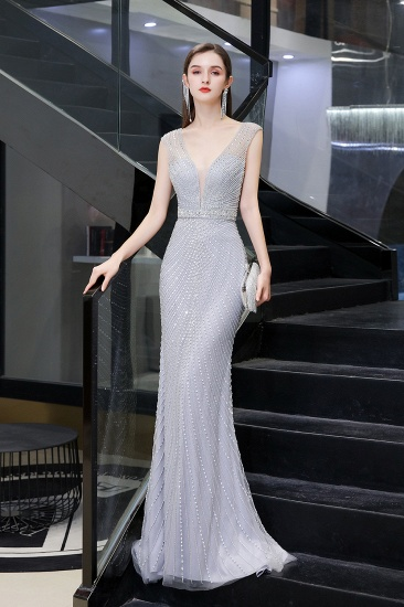 Luxurious Beadings Mermaid Prom Dress Long Mermaid Evening Gowns On Sale_8