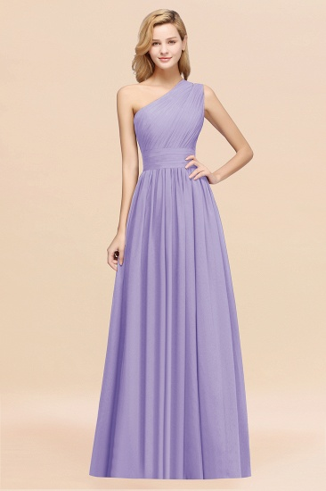 Stylish One-shoulder Sleeveless Long Junior Bridesmaid Dresses Affordable_21